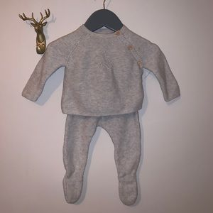 Baby boy knit outfit